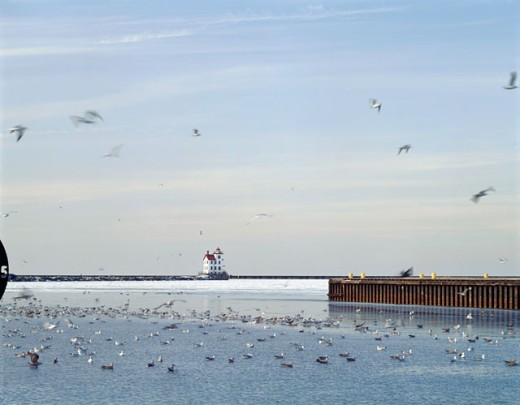 Stock Photo: 2021-453A Lorain West Breakwater Lighthouse