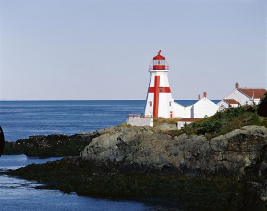 Stock Photo: 2021-670 East Quoddy Head Lighthouse Head Harbour Campobello Island New Brunswick Canada
