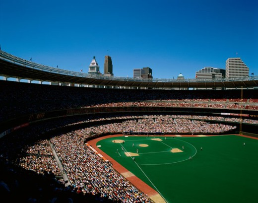 Stock Photo: 2022-153 People at the Riverfront Stadium, Cincinnati, Ohio, USA