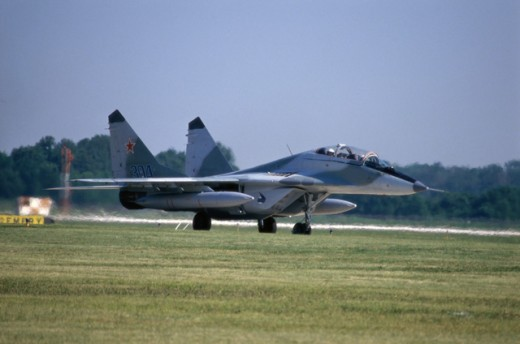 USSR MIG-29 AIRCRAFT NEAR DAYTON OHIO, USA : Stock Photo