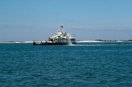 Stock Photo: 2027-347 Dredge Lond Beach Island New Jersey USA