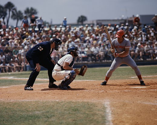 Pete Rose at Bat, Manager of Reds, Reds vs Montreal : Stock Photo