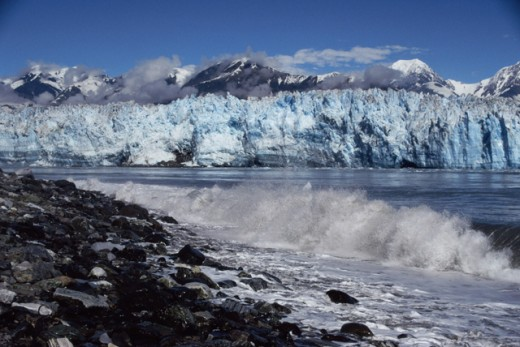 Stock Photo: 2032-1482 Hubbard Glacier