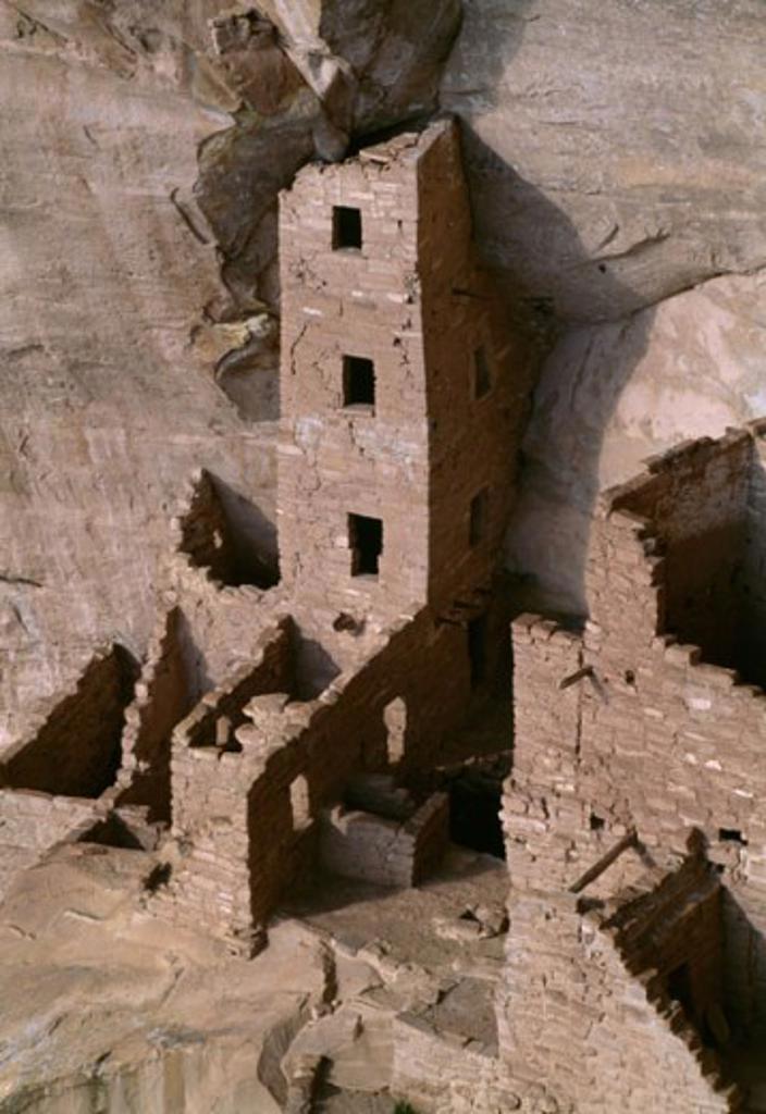 Stock Photo: 2032-1701 Square Tower House Mesa Verde National Park Colorado USA