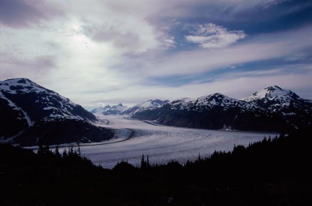 Panoramic view of Salmon Glacier, Alaska, USA : Stock Photo
