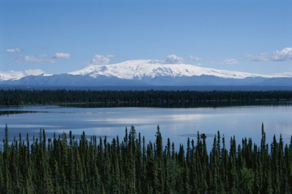 Stock Photo: 2032-2085 Willow Lake Alaska USA