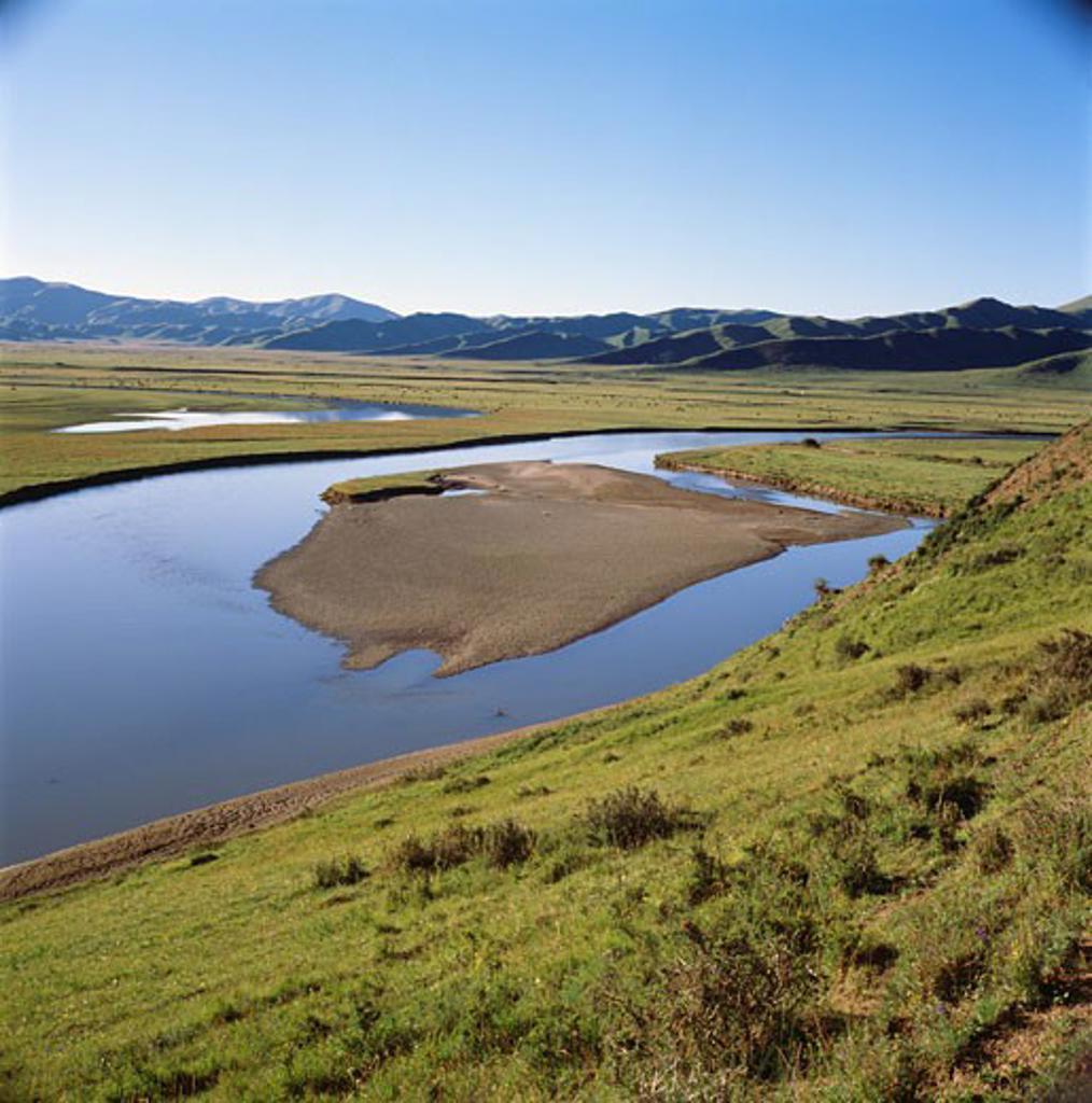 Stock Photo: 2032-283A Samso River Hung Yuan Sichuan Province Tibetan Plateau, China