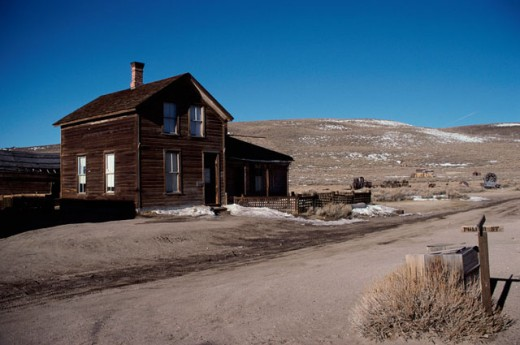 Stock Photo: 2032-394 D. V. Cain House, Bodie State Historic Park, California, USA