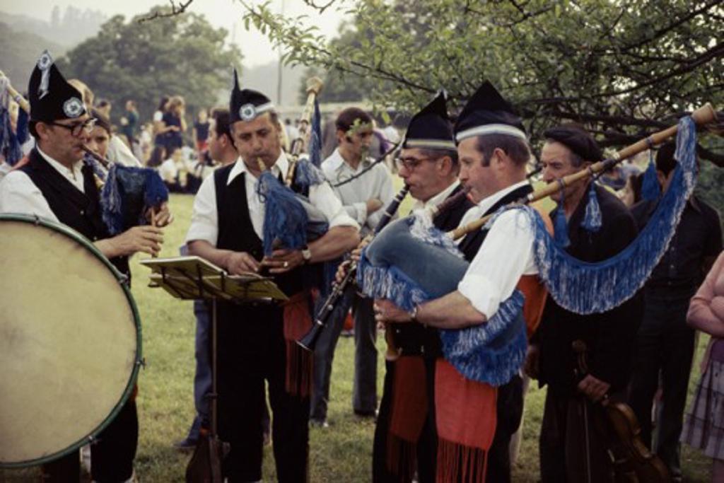 Stock Photo: 2032-473432 Gaita Players Asturias Province Pola de Siera, Spain
