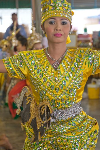 Buddhist temple dancer, Pattaya, Thailand : Stock Photo