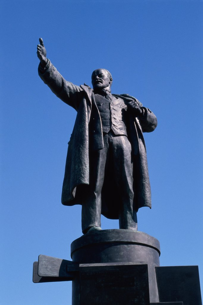 Stock Photo: 2032-619 Low angle view of Lenin Statue, Finland Station, St. Petersburg, Russia