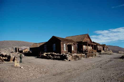 Stock Photo: 2032-782 Building at Bodie State Historic Park, California, USA