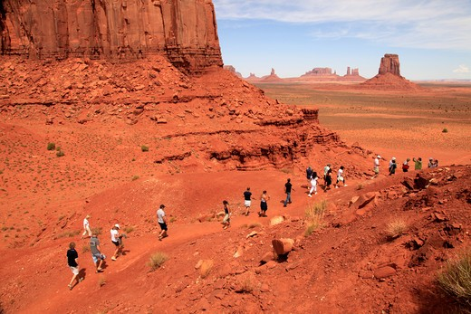 USA, Arizona, Monument Valley, Landscape with rock formations : Stock Photo