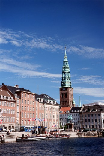 Stock Photo: 2033-496 Buildings on the waterfront, Copenhagen, Denmark