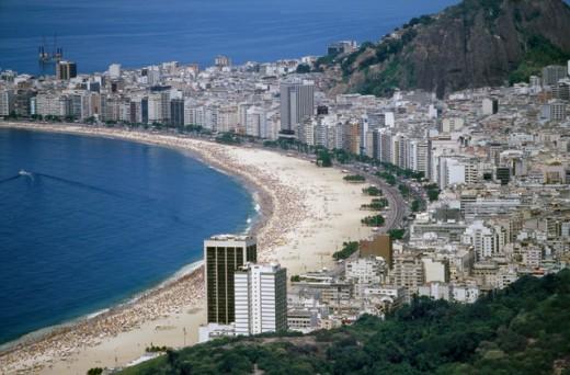 Copacabana Beach Rio de Janeiro Brazil : Stock Photo