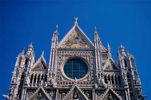 Stock Photo: 2039-446B Low angle view of Siena Cathedral, Chianti, Italy