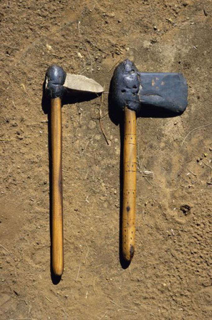 Stock Photo: 2039-581029 Aboriginal Stone Weapons Northern Territory Australia