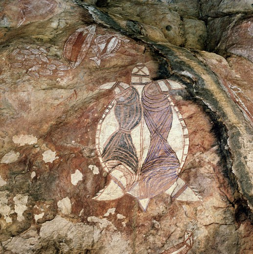 Stock Photo: 2039-599519 Aboriginal Cave Drawings