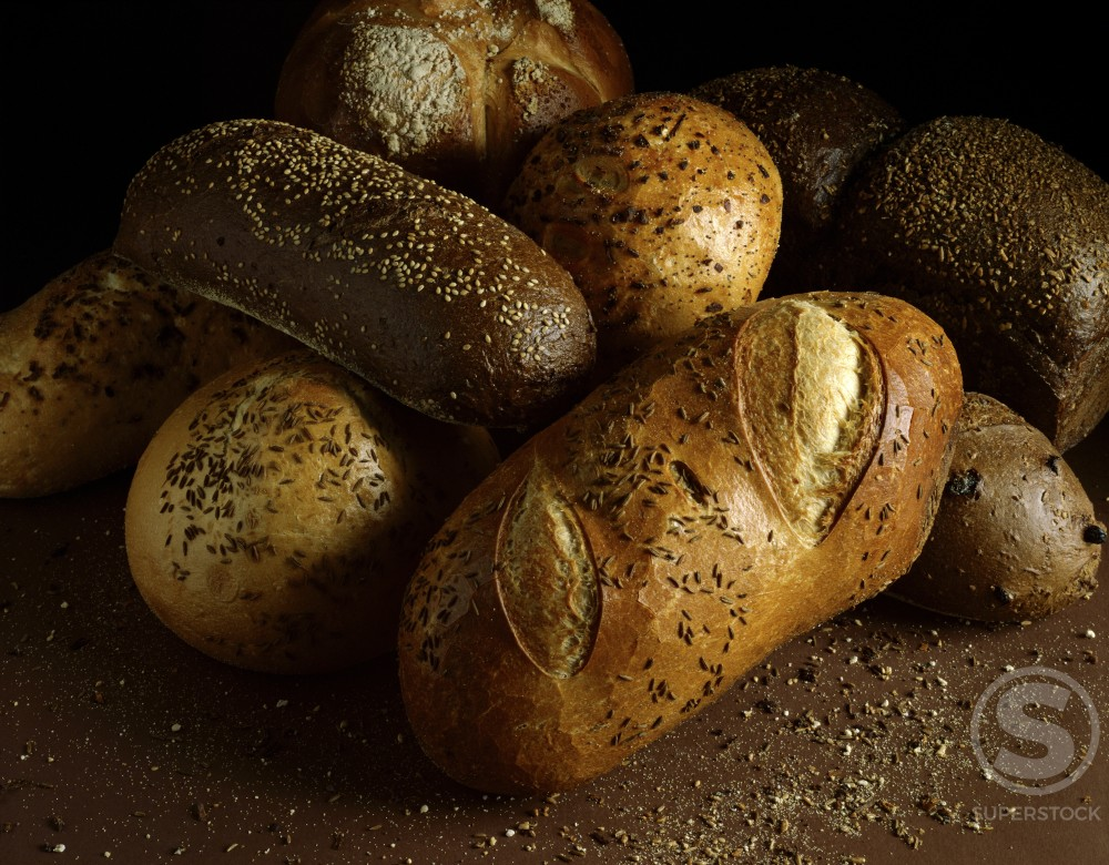 Close-up of loaves of rye bread : Stock Photo