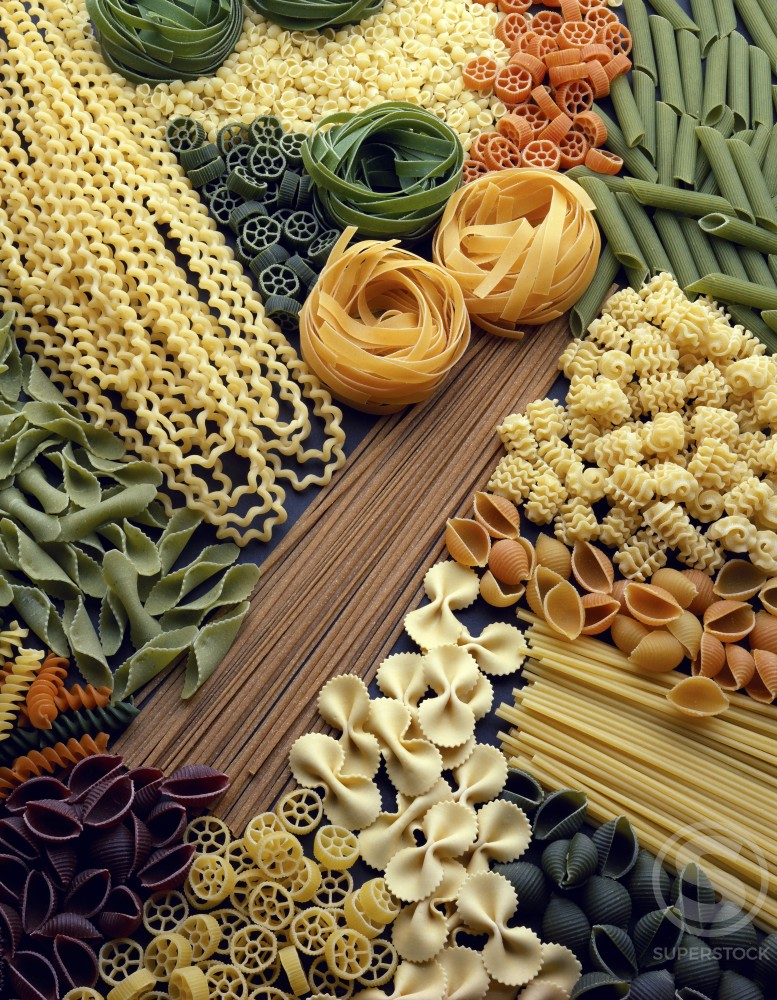 Stock Photo: 204-768 Close-up of assorted pastas