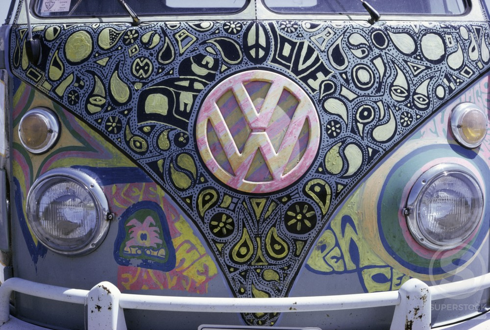 Stock Photo: 2040-497403 Painted Front of VW Wagon