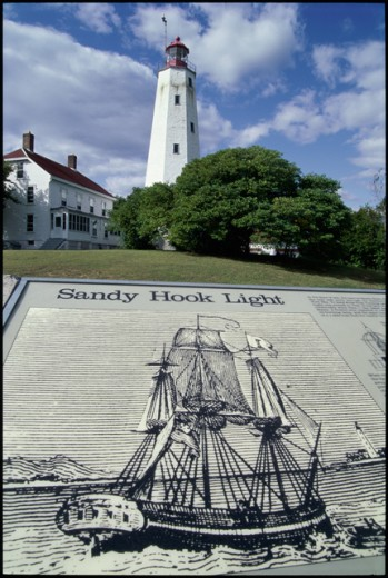 Stock Photo: 2050-1444A Sandy Hook Lighthouse