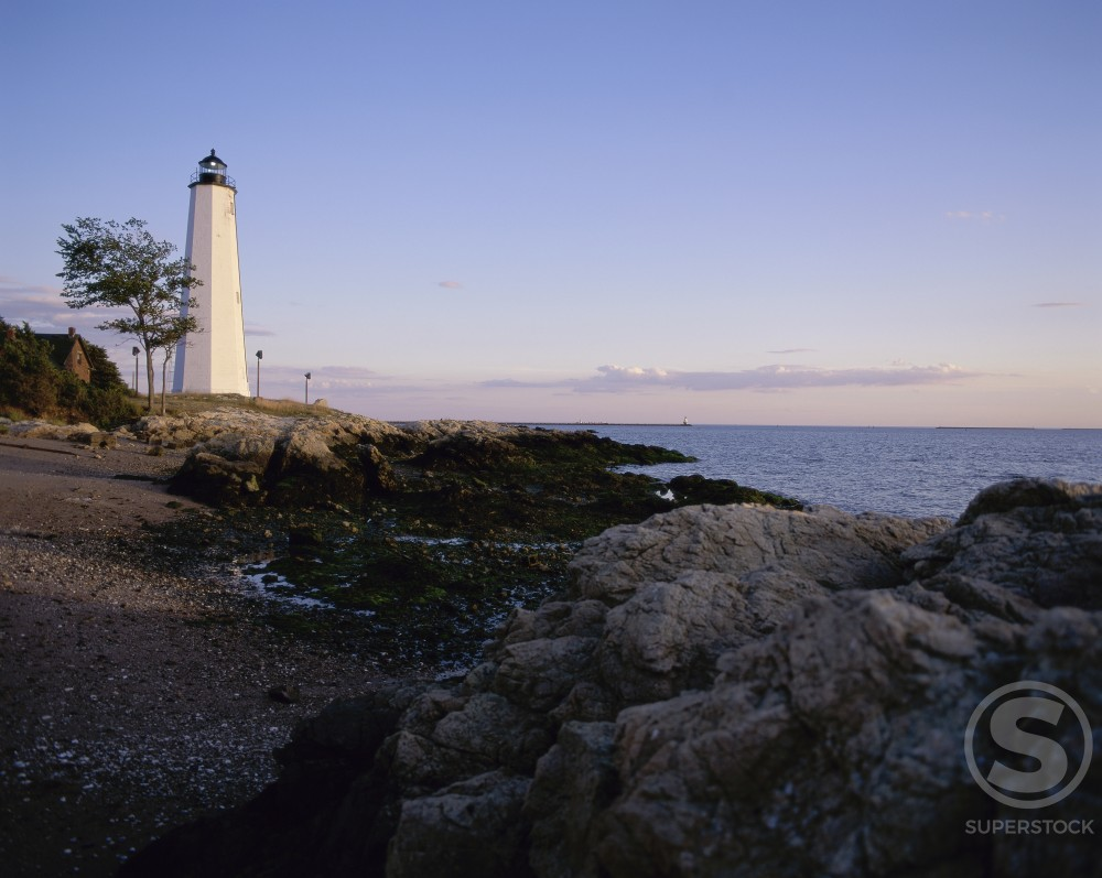 Stock Photo: 2050-1646 Five Mile Point Lighthouse