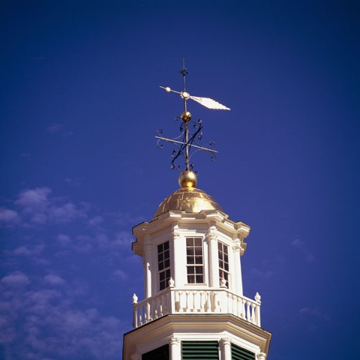 Stock Photo: 2050-465C Low angle view of a weather vane on a building, Williamstown, Massachusetts, USA