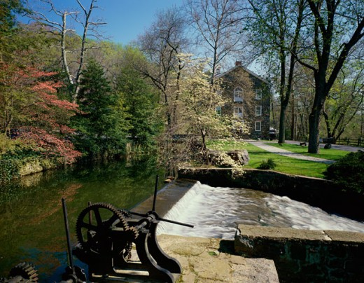 Hagley Museum, Brandywine River, Wilmington, Delaware, USA : Stock Photo