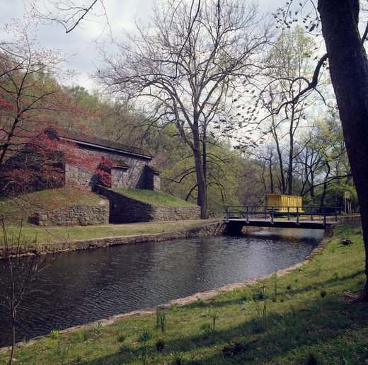 USA, Delaware, Wilmington, Brandywine River, Hagley Museum : Stock Photo