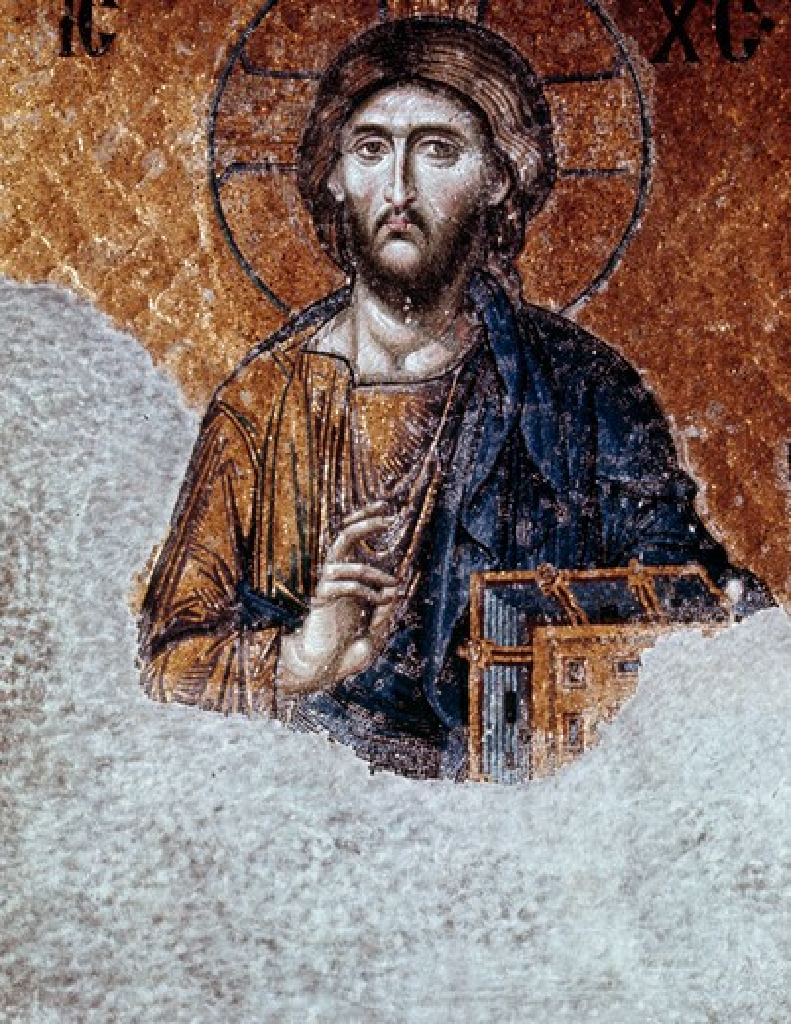 Stock Photo: 2058-442382 Mosaic of Jesus,  Turkey,  Istanbul,  Hagia Sophia church