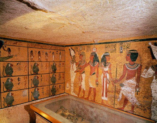 Stock Photo: 2058-450678 Tutankhamen: Tomb Painting