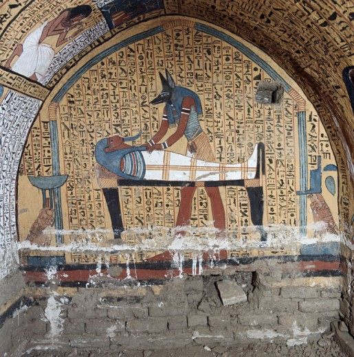 Stock Photo: 2058-453755 Anubis with a Pharoah