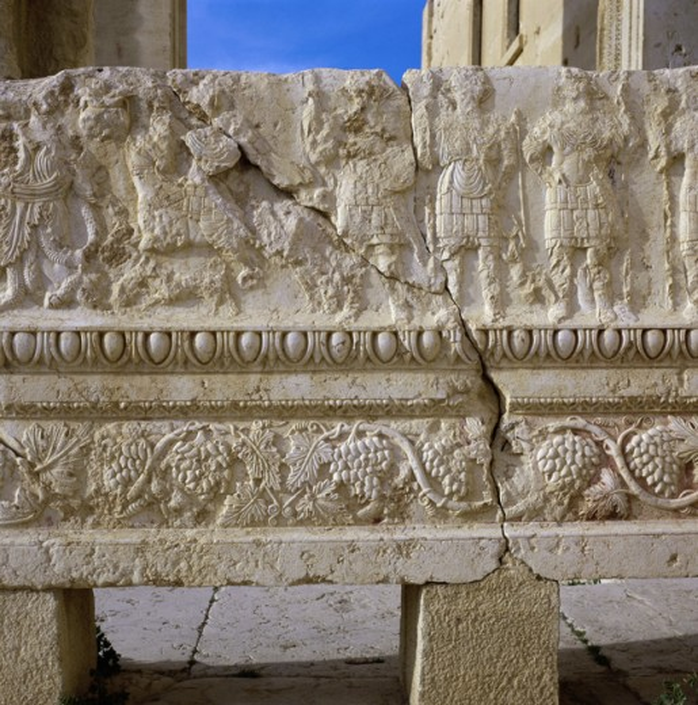 Bas Relief Temple of Baal Shamin Palmyra Syria : Stock Photo