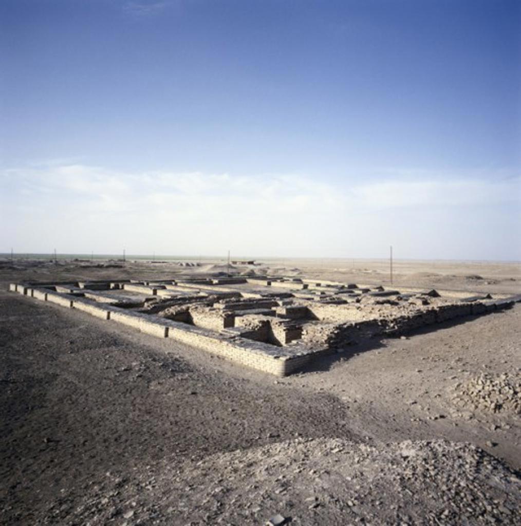 First Dynasty Ruins Ur Iraq : Stock Photo