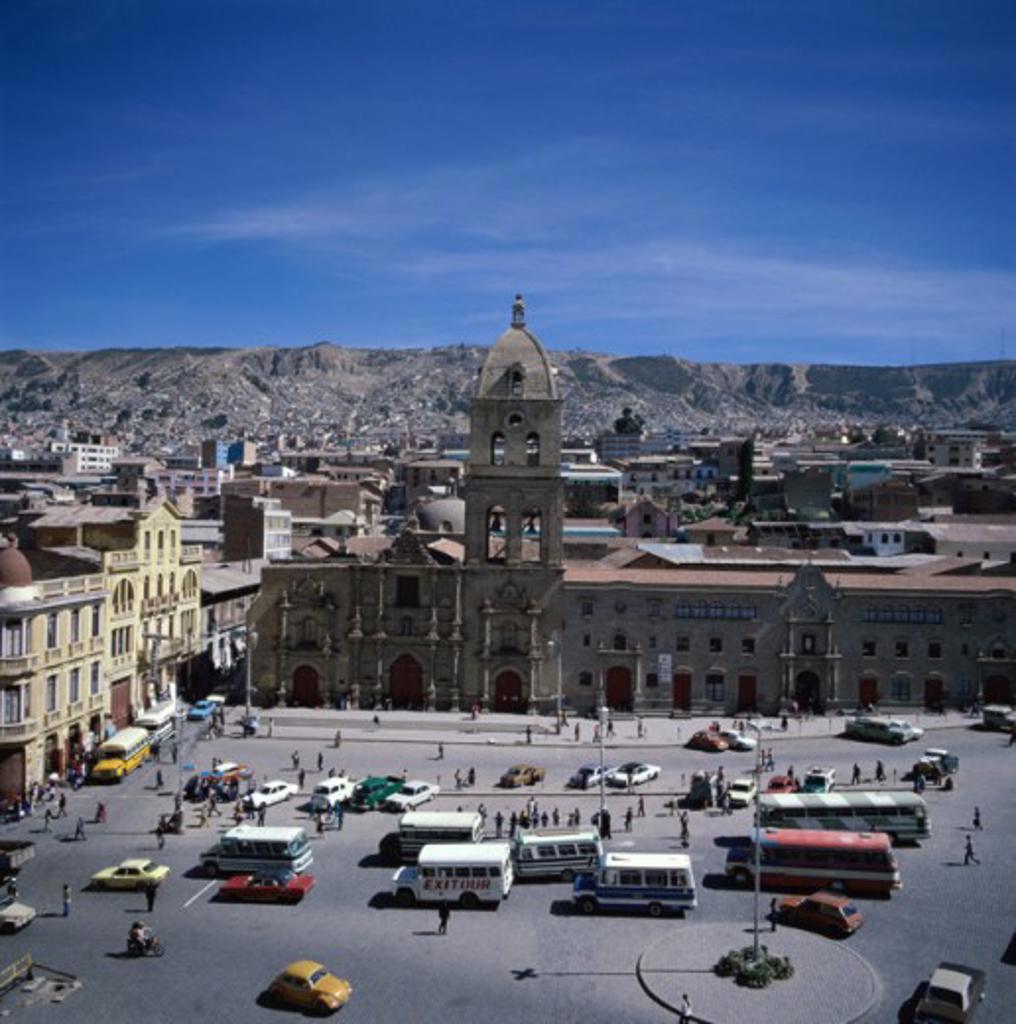 Stock Photo: 2058-535095 San Francisco Church San Francisco Plaza La Paz, Bolivia