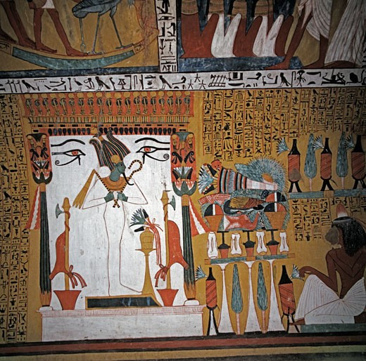 Stock Photo: 2058-560477 Osiris  Egyptian Art  Fresco  Valley of the Kings, Egypt