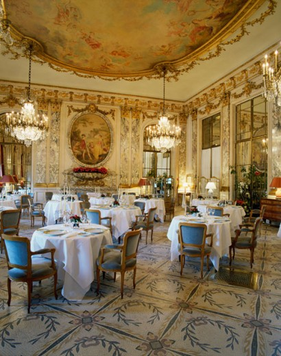 Stock Photo: 2058-998 Interior of a Dining Room, Hotel Meurice, Paris, France
