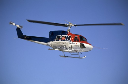 Stock Photo: 2064-1153 A helicopter in flight