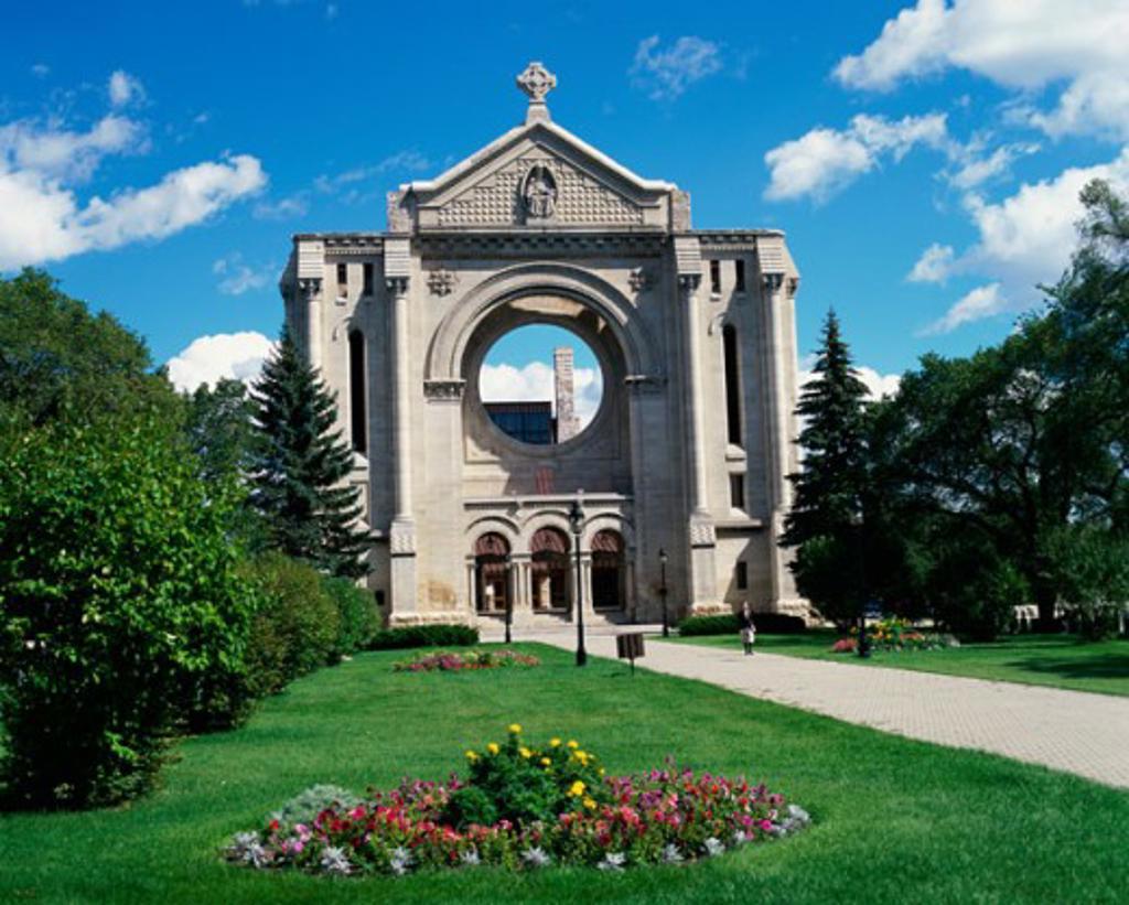 Stock Photo: 2070-1080 St. Boniface Basilica, St. Boniface, Manitoba, Canada