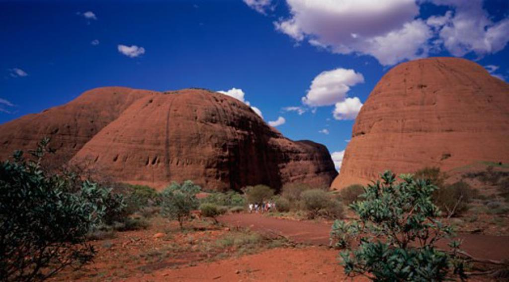 Stock Photo: 2070-1172 Panoramic view of hills, Olgas, Uluru-Kata Tjuta National Park, Australia