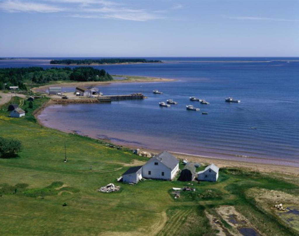 Northumberland Strait Near Georgetown Prince Edward Island Canada : Stock Photo