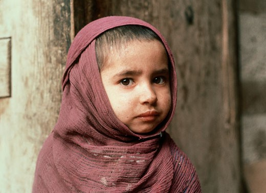 Stock Photo: 2070-423 Portrait of a child, Nuristan, Afghanistan