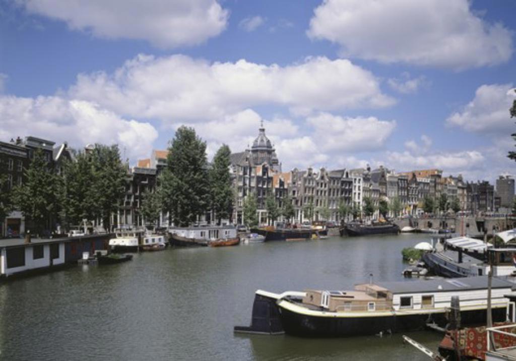 Waal River Amsterdam Netherlands : Stock Photo