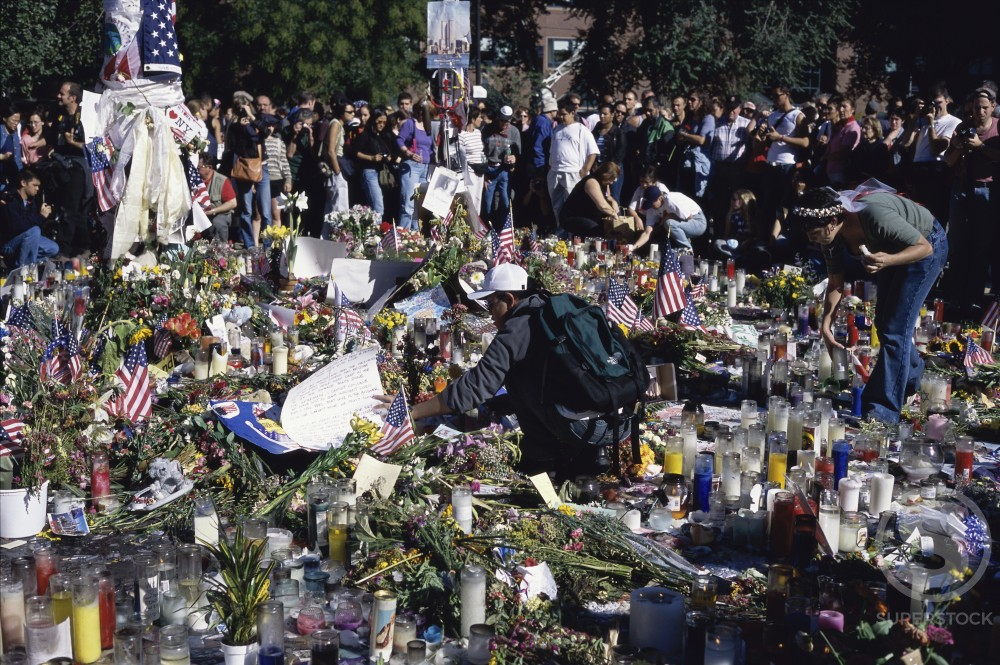 Union Square Memorial to World Trade Center Attack Victims New York City USA  : Stock Photo