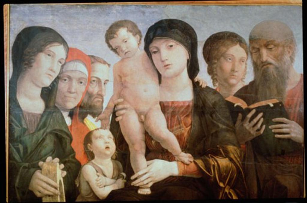 Sacred Conversation  Andrea Mantegna (1431-1506 Italian) Galleria Sabauda, Torino, Italy : Stock Photo