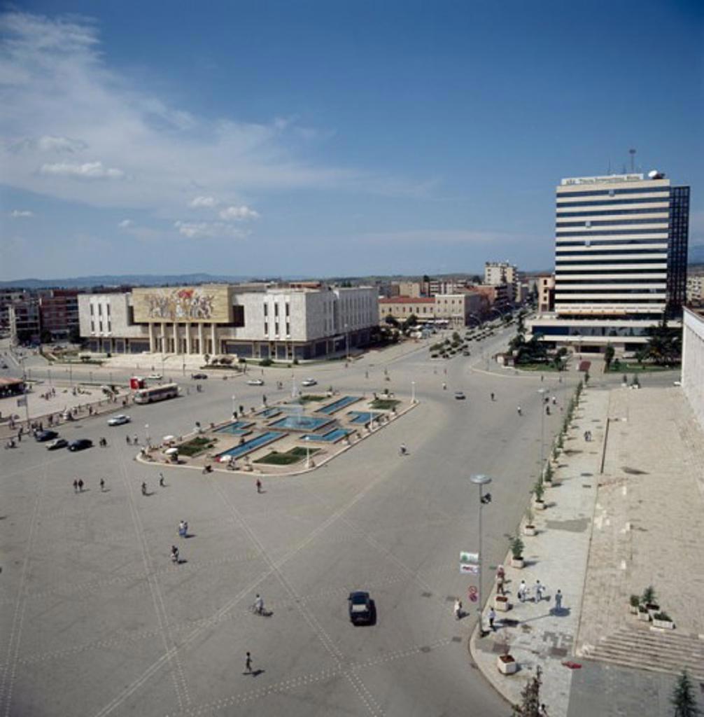 Skenderbeg Square Tirana Albania : Stock Photo