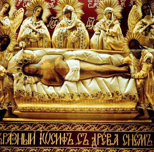 Deposition of Christ, Bulgaria, Rila Monastery : Stock Photo