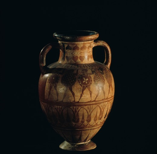 Stock Photo: 2102-2465 Etruscan Amphora, Italy, Private Collection