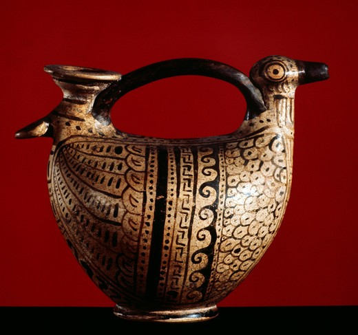 Stock Photo: 2102-2466 Etruscan Askos, Italy, Private Collection